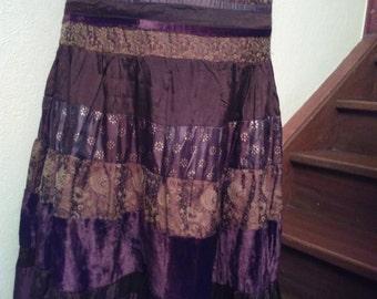 Skirt mi long way patchwork