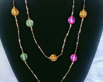 Xtra Long Beaded Wrap Around Necklace