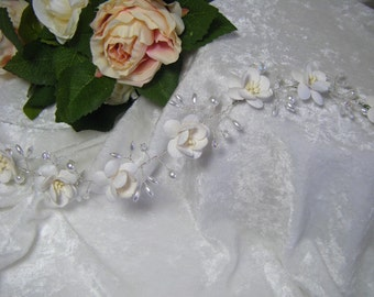 Bridal hair vine cherry blossom