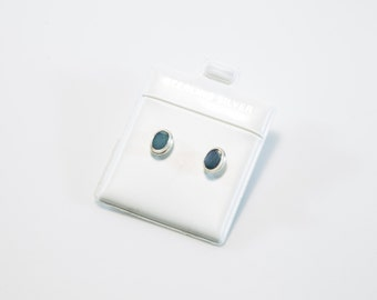 Oval Australian Opal Stud Earrings