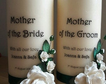 Candle for mother of groom