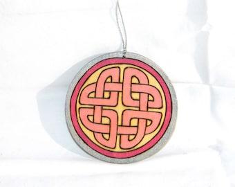 Ornament - Celtic Knot Pink