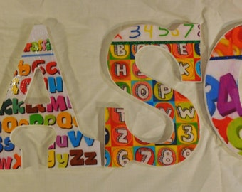 Alphabet and Numbers themed Letters