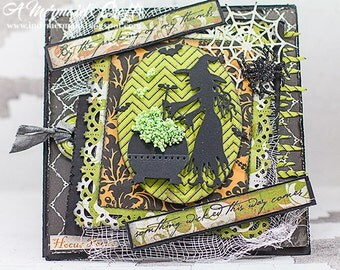 Handmade Something Wicked Halloween Witch Card