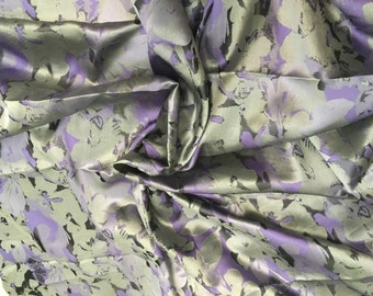 Stunning Jacquard, a luscious Purple and Gray Floral pattern, 1 yard piece, 60 inches wide