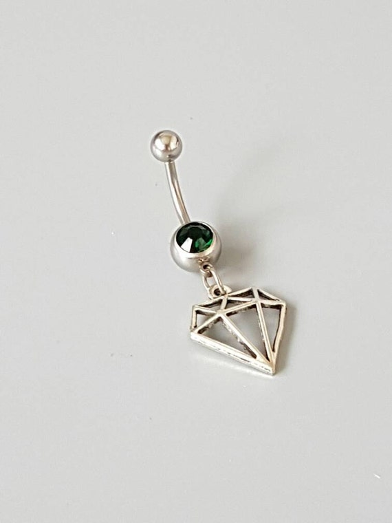 sale diamond belly button ring belly bar belly rings. Black Bedroom Furniture Sets. Home Design Ideas
