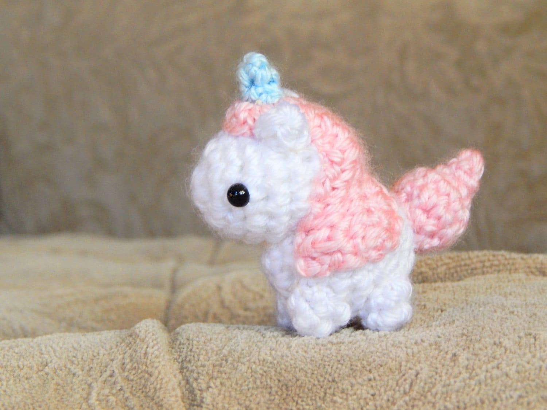 Amigurumi Pattern Unicorn : Amigurumi Pattern Unicorn Mini Crochet Pattern Easy
