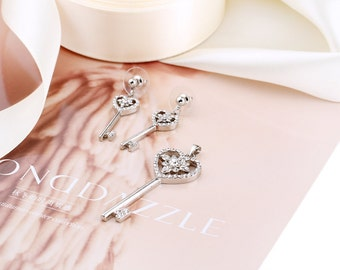 HT00096 Free Shipping Key Jewelry set necklace and earring with Gift Box Packing