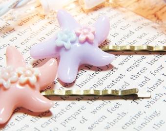 Starfish Bobby Pins - Bobby Pins - Hair Pins - Starfish Hair Pins - Pink Starfish Bobby Pins - Purple Starfish Bobby Pins - Ocean Bobby Pins