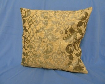 Chenille cushion covers, gold leaf design. 3 Sizes available.