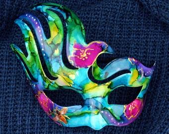 Midnight Garden Mixed Media Masquerade Mask