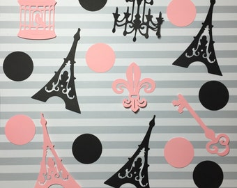 Paris Theme Party Cutouts - Paris Party Decor - Paris Bridal Shower - Paris Baby Shower - Bride to be - Paris Theme Party - Paris Decor