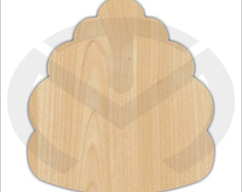 Unfinished Wood Beehive Laser Cutout, Home Decor, Door Hanger, Summer