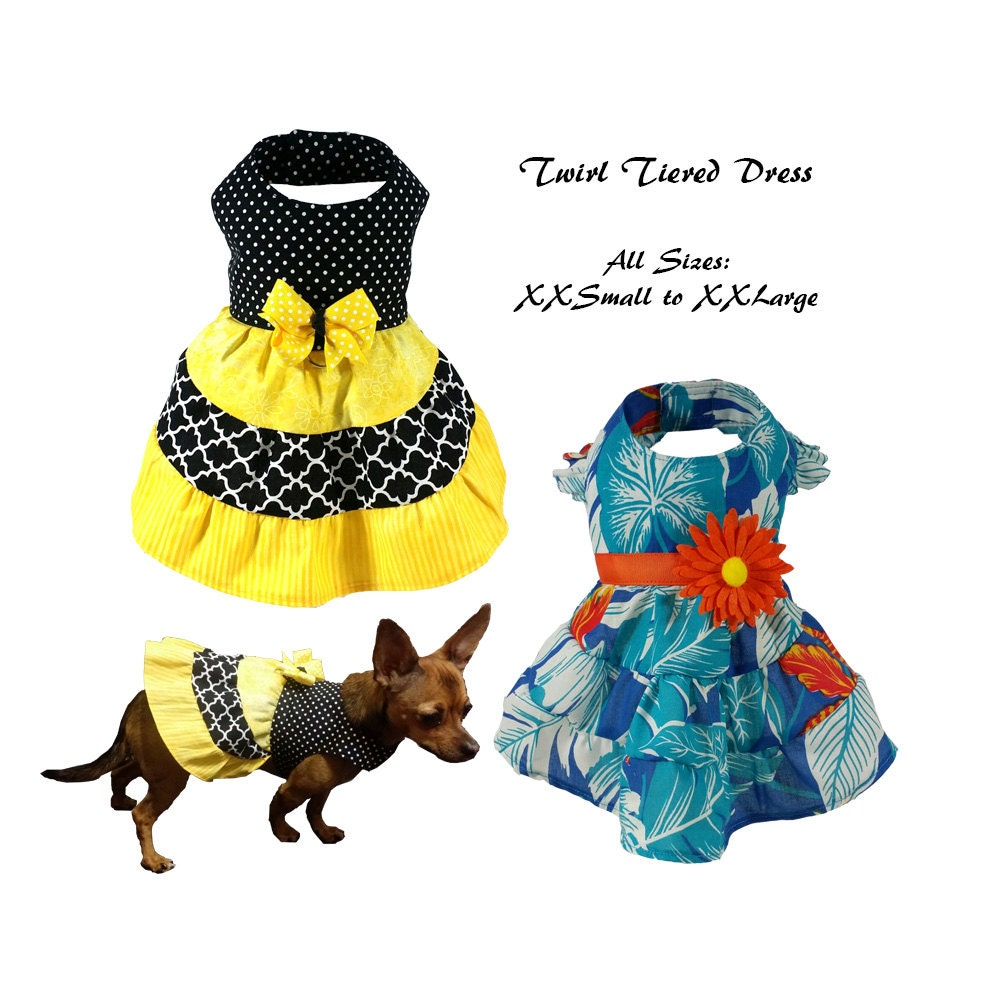 Dog dress pattern dog clothes sewing pattern pdf tutorial Dog clothes design your own