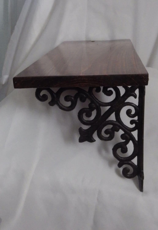 wrought iron shelf pallet wood reclaimed wood shelf with. Black Bedroom Furniture Sets. Home Design Ideas