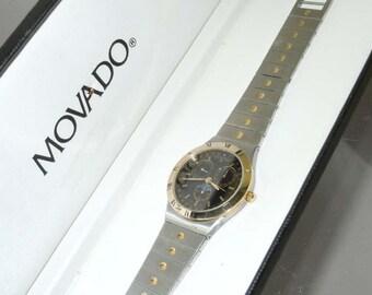Vintage Movado Triple Date Moonphase 81 84 861v81 Dress Watch