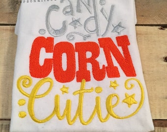 Candy Corn Cutie - Candy Corn Cutie Shirt - Halloween Shirts for girls - Girl halloween shirt