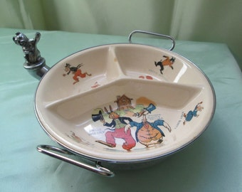 Uncle Wiggily Rare 1924 Child's Warming Feeding Dish