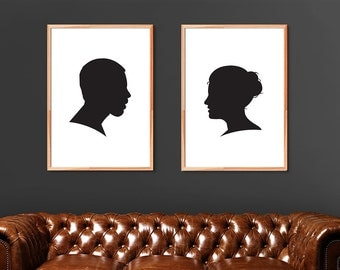 Silhouette Portrait, Silhouette Cameo, Custom Silhouette created from your photos!