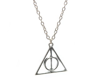 Silver Deathly of Hallows necklace