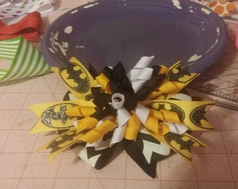 Batman Glitter hair bow