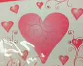 """Valentine Card Jumbo 9"""" x 9"""" Destash Craft Supply Extra Large Card Envelope from Flomo Jeweled and Die Cut Embellishments Upcycle Recycle"""