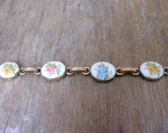 Winard Bracelet - Floral Bracelet - Flower Bracelet - Vintage Bracelet - Rose Bracelet- Vintage Rose - Vintage Floral - 1950s Bracelet