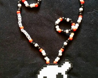 Knife Party Perler Necklace