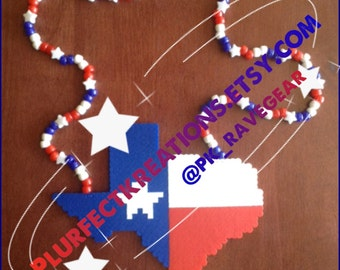 Texas Perler Necklace (customization requests are encouraged!)