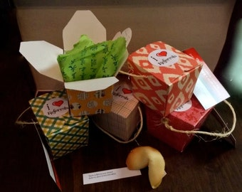 Mini Chinese take out Boxes - Assorted