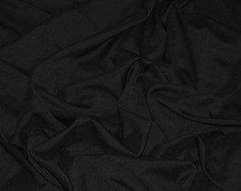 "Black Polyester Fabric | Black Fabric Yardage | Fabric By The Yard 58""/60"""