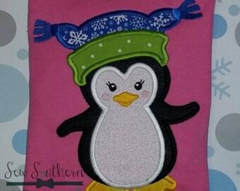 Winter Hat Penguin Applique Design ~ Instant Download
