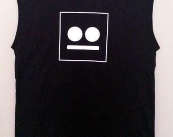 Moore Vintage Printed Logo Sleeveless T-shirt