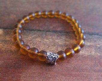 Glass Amber Bracelet