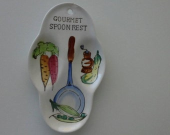 Gourmet Spoon Rest Shabby Chic