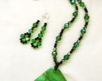 Forever in Green Necklace with Matching Earrings