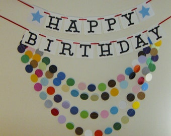 Happy Birthday Banner, Birthday Banner, Birthday Greetings, Birthday Decoration, Happy Birthday Party Decoration.