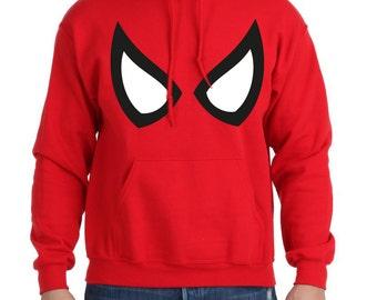 Sherbet Dip Spiderman Eyes Print Hoodie. All Sizes