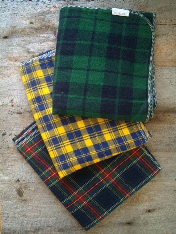 Extra Large Plaid Flannel Receiving Blankets Swaddle Blanket
