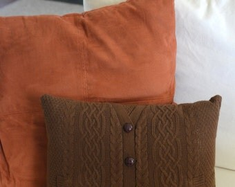 Cozy Brown Sweater Pillow