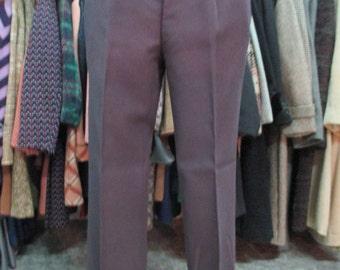 Pantaloni anni 60  color melanzana in crespo di lana pesante/ Fantastic 1960s aubergine trousers/Heavy wool crepe/Mods style/Made in Italy