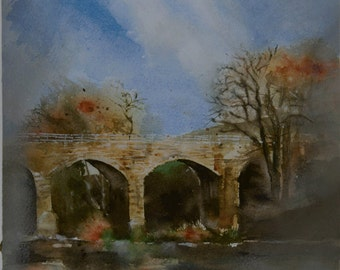 Bridge at the river Esk in Angus,Scotland