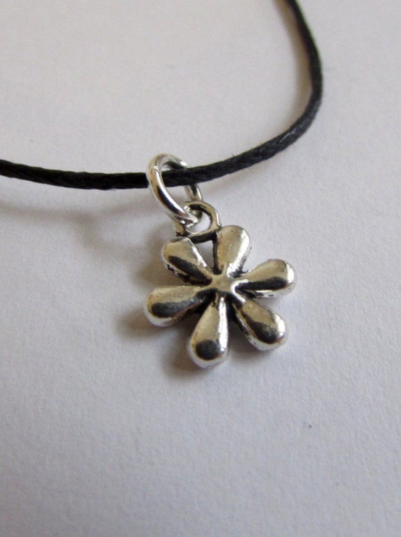Flower Charm On Wax Cord Adjustable Unisex Free UK Shipping + Gift Bag CH4