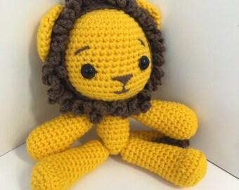 READY TO SHIP - Amigurumi Crochet Lion Toy/ Plush Toy/ Stuffed Toy / Soft Toy/ Photo prop