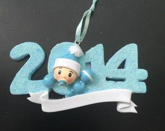 2014 Baby Boy Personalized Christmas Ornament