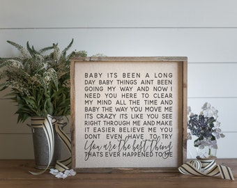 You Are The Best Thing // 17x17 Handmade Sign