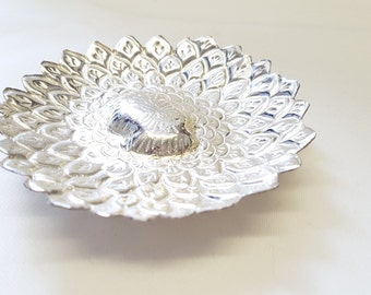 Silver Plated Delicate Ornamental Lotus Flower Bowl