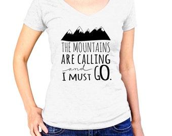 Mountain Shirt - Womens Hiker Shirt - Mountain Biking Shirt - Snowboarding Shirt - Pacific Northwest - Nature Clothes - Rocky Mountains