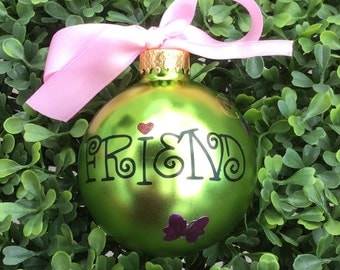 Personalized Friend Christmas Ornament