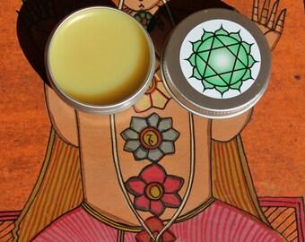 Heart Chakra opening solid perfume, Rose and ylang ylang solid perfume scent